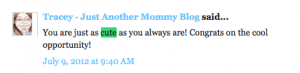 Tracey-Just Another Mommy Blog